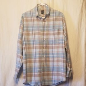 Jos. A. Bank plaid shirt